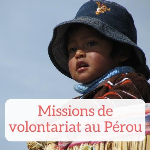 Offres de volontariat au Pérou